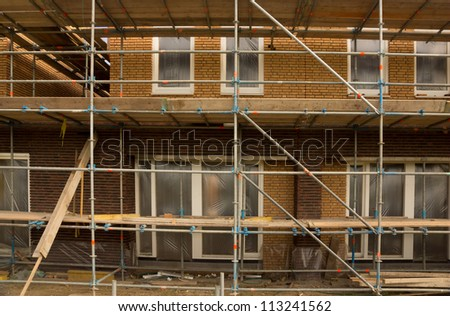 Real estate construction site in the netherllands - stock photo