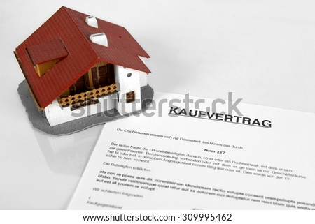 "Real estate contract - Concept with the German Word ""Kaufvertrag"""