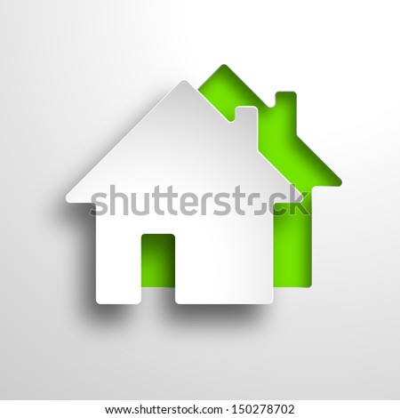 real estate 3d background - stock photo
