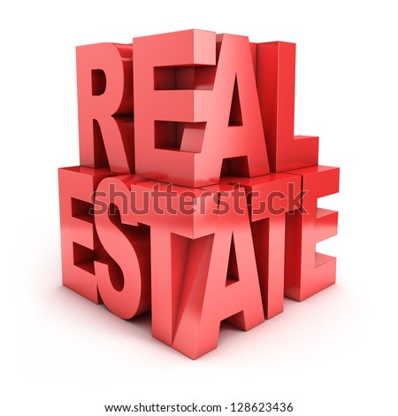real estate 3d letters - stock photo