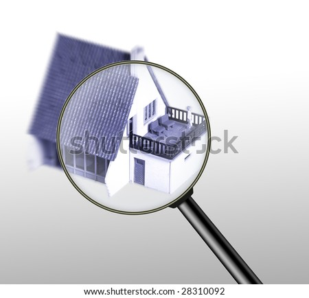 real estate finding concept - stock photo