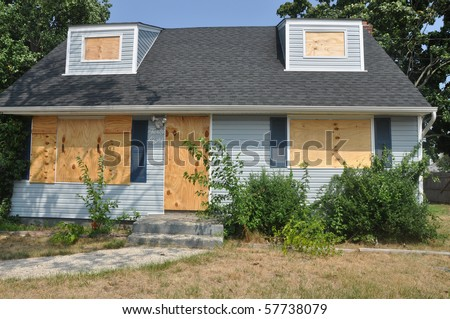 Real Estate Foreclosure Home - stock photo