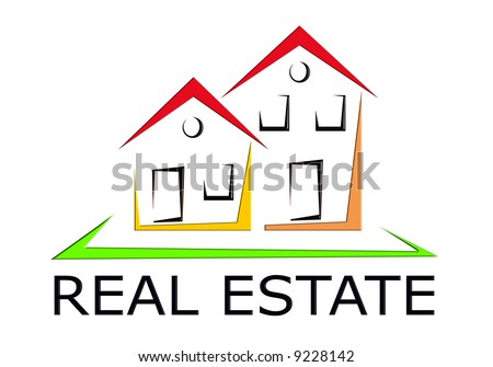 Real Estate Icon - stock photo