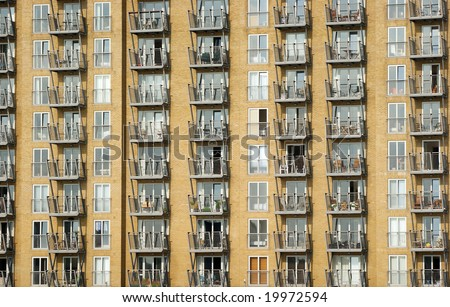 Real estate in concrete jungle - stock photo