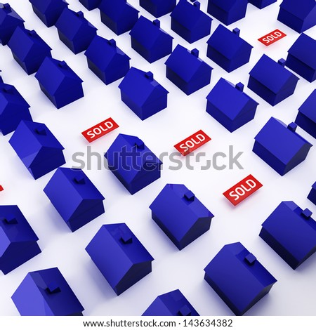 Real estate market - stock photo