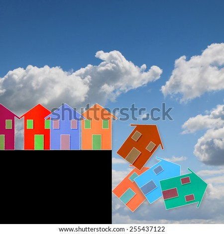 Real estate market crisis - concept image - stock photo