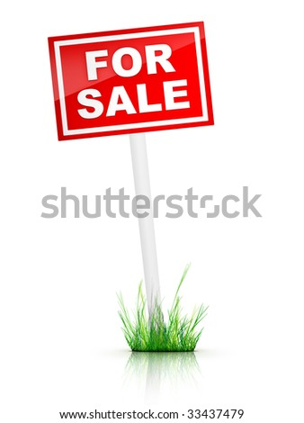 Real Estate Sign - For sale.