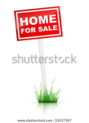 Real Estate Sign - Home for sale.
