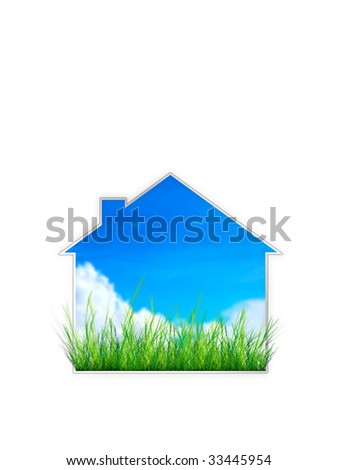 Real Estate Sign- House - stock photo