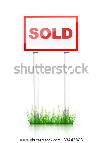 Real Estate Sign Sold