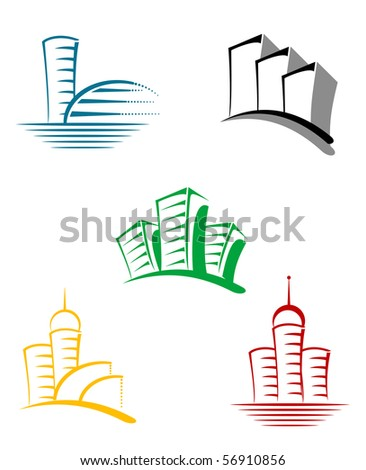 Real estate symbols for design - also as emblem or logo template. Vector version also available in gallery - stock photo