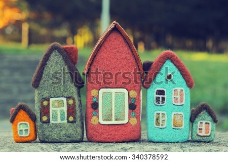 real estate, toy houses - stock photo