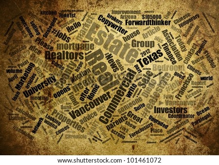 Real estate word cloud - stock photo