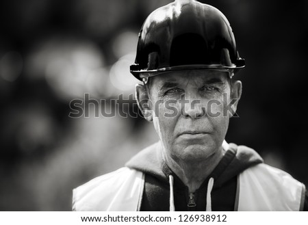 Real experienced builder - stock photo