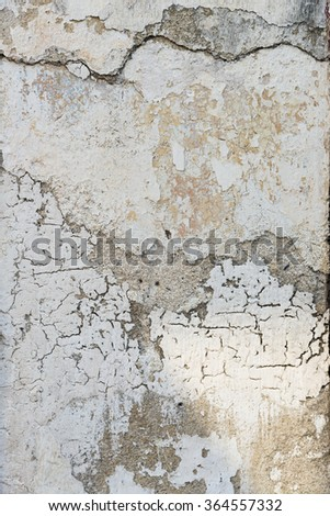 Real exterior shot of a dirty textured concrete wall with copy space.