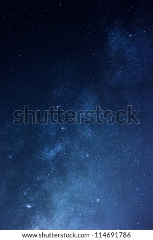 Real Milky Way stars - stock photo