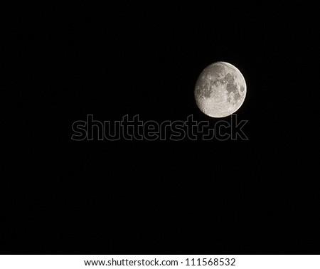 Real moon at night - stock photo