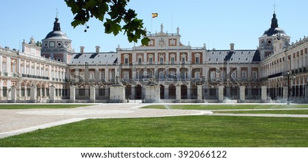 Real palace in Aranjues, Madrid, Spain - stock photo