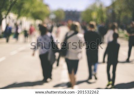 real people on the street  - stock photo