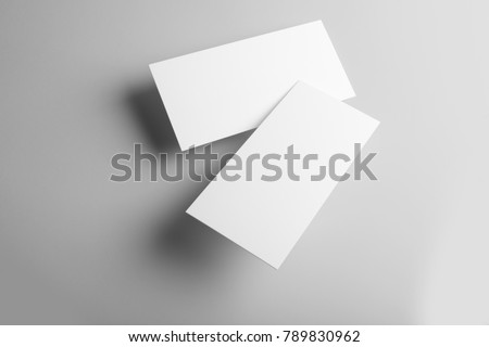 Real photo business card mockup template stock photo royalty free real photo business card mockup template front and back isolated on light grey friedricerecipe Gallery