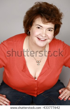 real plus size woman smiling