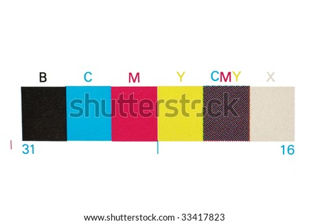 real print offset scale - stock photo