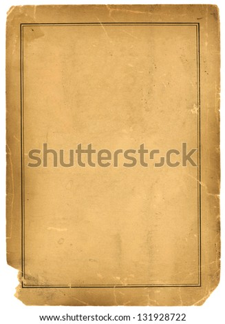 Real 1800s Antique Parchment Paper Background Texture - stock photo