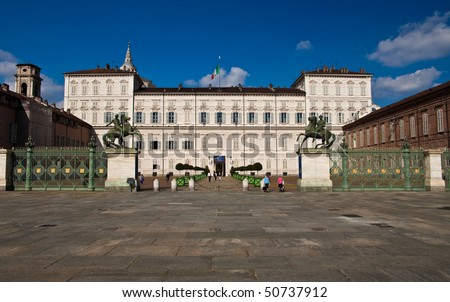 Real savoy estate in turin, Italy - stock photo