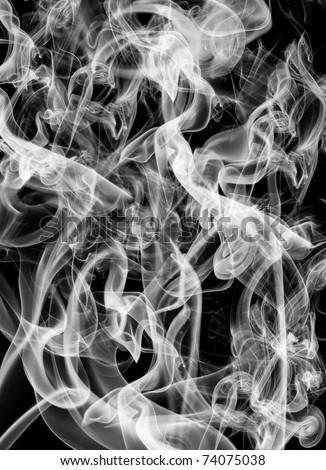 real smoke background - stock photo