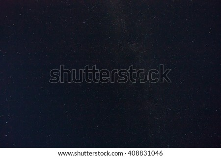Real stars in the night sky - stock photo