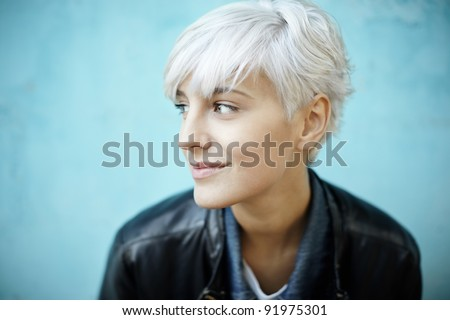 real young beautiful woman - stock photo