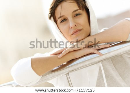 real young woman - stock photo