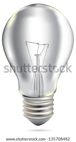 Realistic Bulb isolated on white. Illustration