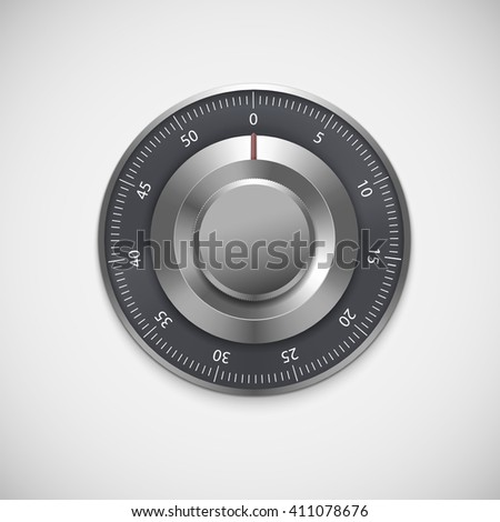 Realistic combination lock, isolated on white background. illustration for your business