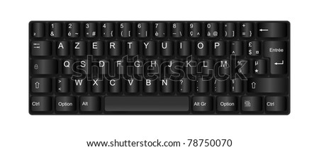 Realistic computer keyboard illustration