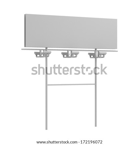 realistic 3d render of billboard