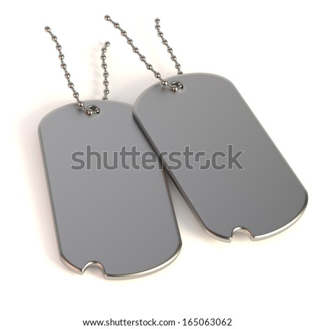 realistic 3d render of dog-tag