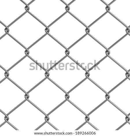 realistic 3d render of fence links - stock photo