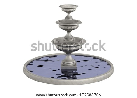 realistic 3d render of fountain - stock photo