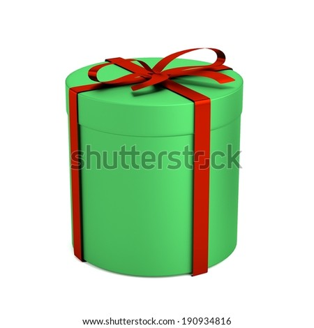 realistic 3d render of gift