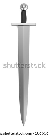 realistic 3d render of sword