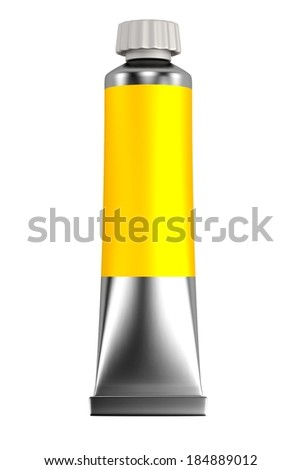 realistic 3d render of tube - stock photo