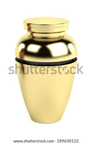 realistic 3d render of urn - stock photo