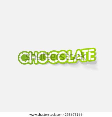 realistic design element: chocolate - stock photo