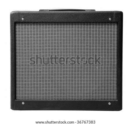 Realistic detailed vintage guitar cabinet - stock photo