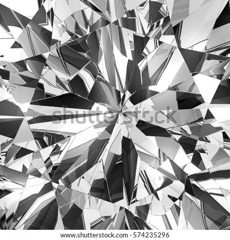 Realistic Diamond Caustic Close Texture 3d Stock