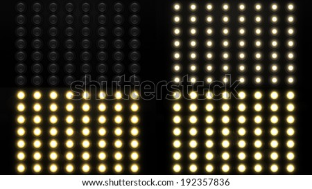 Realistic Flood Lights - stock photo