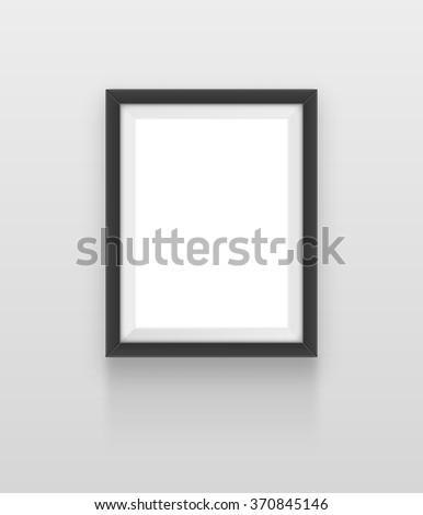 Realistic frame. Element for your design. JPEG version. - stock photo