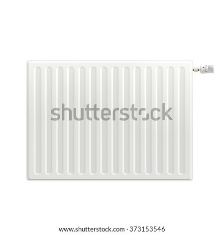 Realistic Heating Radiator - stock photo