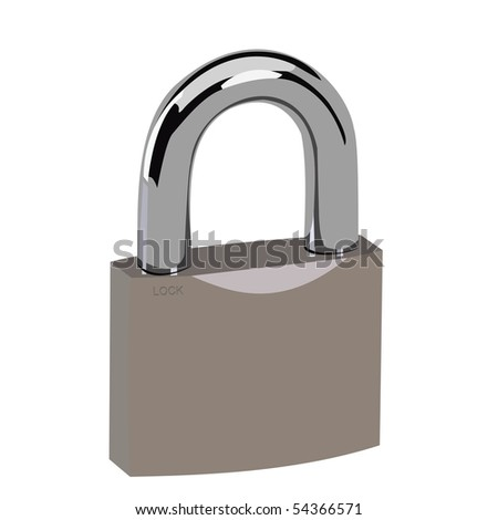 Realistic illustration lock - Raster - stock photo